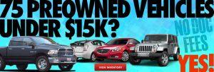 Dealer web page banner